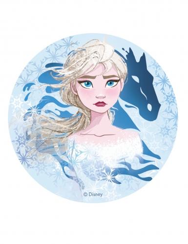 Eetbare Elsa Frozen 2™ taartschijf 20 cm