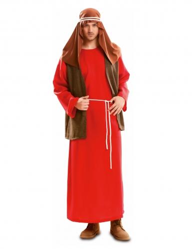 Rood Jozef kostuum voor mannen
