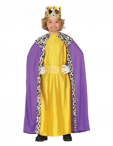 3 Koningen kostuum geel voor kinderen