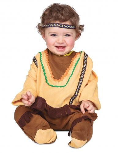 Bruin en lichtbruin indianen kostuum voor baby's