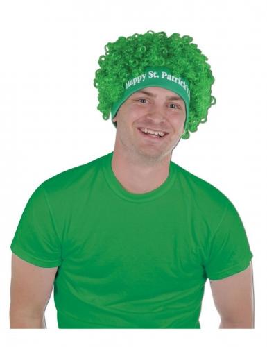 Groene happy St. Patrick's Day pruik