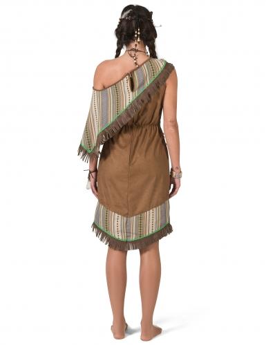 Luxe bruine indianen kostuum voor dames-1
