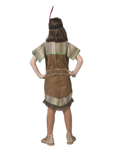Bruin met groen indianen kostuum voor meisjes-1