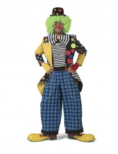Que de pie clownsjas met strik voor mannen