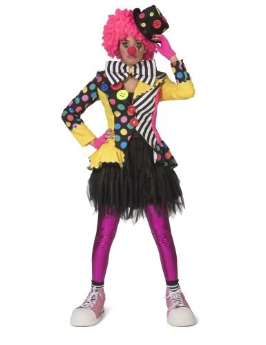 Veelkleurige clownsjas voor vrouwen