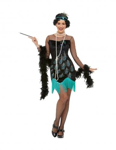 Jaren 20 pauw kostuum voor dames
