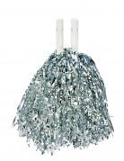 Zilvermetaalkleurige pompon