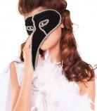 Luxueus Venetiaans masker voor volwassenen in zwart en zilver