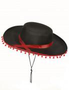 Spaanse hoed in zwart en rood