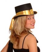 FIN DE VIE goudkleurige hoge hoed voor volwassenen
