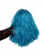 Metallic blauwe pompon