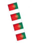 Slinger met Portugese vlagjes