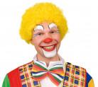 Gele clown afropruik voor volwassenen