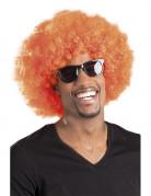 Oranje disco afropruik voor volwassenen