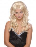 Lange blonde filmsterpruik voor dames