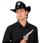 Zwarte sheriffshoed voor volwassenen