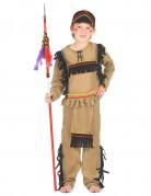 Indianen kostuum met zwarte franjes voor jongens