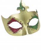 Groen Venetiaans halfmasker voor volwassenen