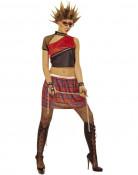 Rood punkkostuum voor vrouwen