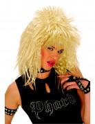 Blonde rockpruik volwassene