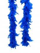 Donkerblauw gekleurde boa