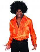 Oranje disco blouse voor mannen