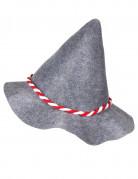 Grijze Beierse hoed met touwtje voor volwassenen