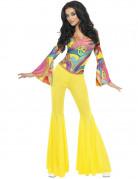 Hippiekostuum uit de jaren 70 voor dames