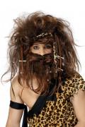 Holbewonerspruik en baard voor mannen