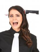 Haarband met bloederig mes