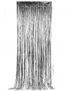 Glinsterend zilverkleurig gordijn