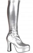 Zilverkleurig gelakte laarzen