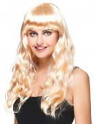 Blonde pruik met lange krullen voor dames