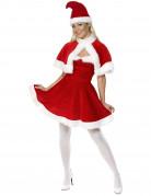Kerstvrouw kostuum met bont voor vrouwen