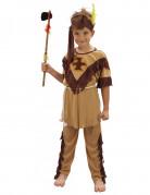 Beige met bruin indianen kostuum voor jongens