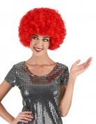 Rode afrodiscopruik voor volwassenen