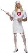 Grappig verpleegsterspak voor mannen