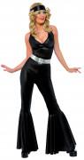 Smal zwart disco pak voor dames