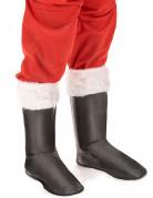 Zwarte kerstman overlaarzen voor volwassenen