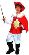 Rode en witte musketier outfit voor jongens