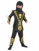Geel doodskop ninjakostuum voor jongens