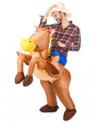 Opblaasbaar paardenpak voor volwassenen