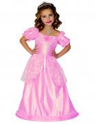 Glanzend roze prinsessenpak voor meisjes