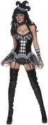 Sexy boze harlekijnen outfit voor dames