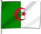Vlag voor supporter Algerije 30x46 cm