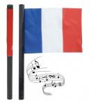 Vlag die geluid maakt voor de Franse ploeg