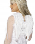 Witte vleugels met pluimen voor volwassenen