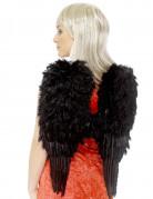 Vleugels met zwarte pluimen voor volwassenen