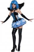 Blauwe engel van de nacht kostuum voor vrouwen