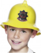 Gele brandweerhelm